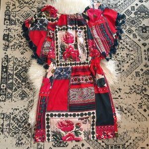 Anthropologie Venessa Virginia Dress Tassel M